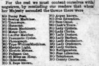 Hartlepool Mail 21/06/1897. List of things not in Britain when Queen Victoria began her reign